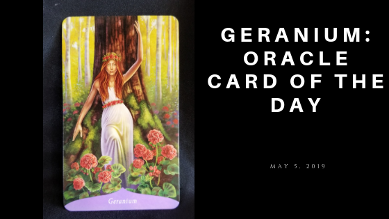 Geranium Oracle Card