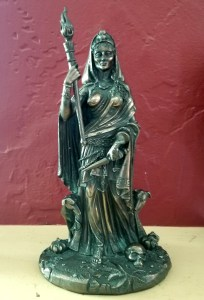 Darkest Night - A bronze finished statue of Hekate or Hecate