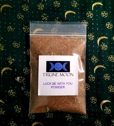 How to Use Spell Powders - Triune Moon Luck be With You Powder