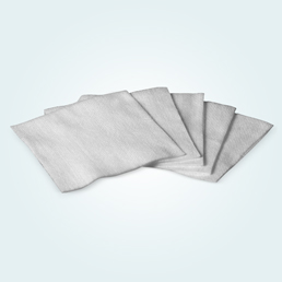 flattened non woven swabs