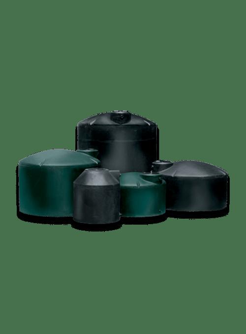BLACK & GREEN VERTICAL WATER TANKS