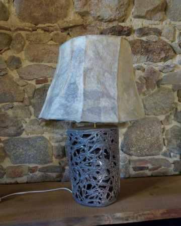 lampe ajourée ivoire