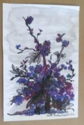 fleurs bleus par Claire Archambault