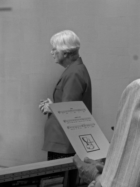 Sr. Eleanor in pray at Mass