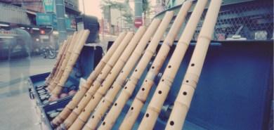 Komuso, shakuhachi flutes.
