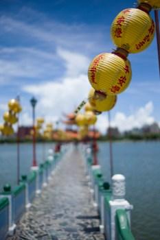 Lotus lake, Yellow Lanterns