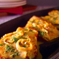 Chicken Scallopine with Saffron Cream Sauce Recipe