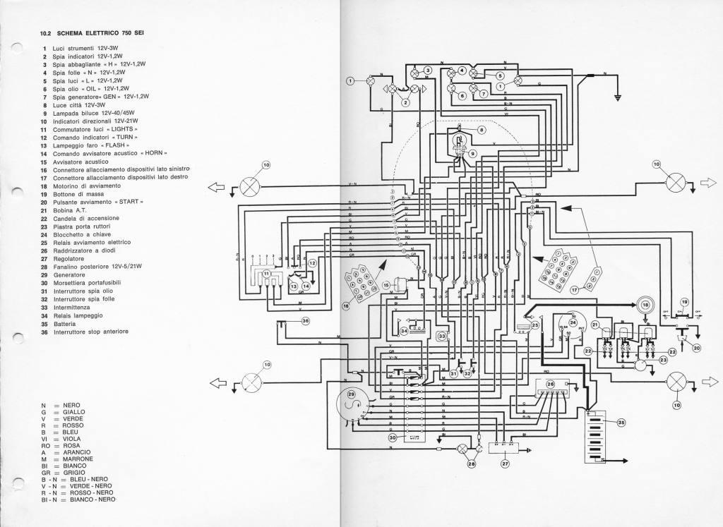 Impianto Elettrico 750 • Benelli Club de España