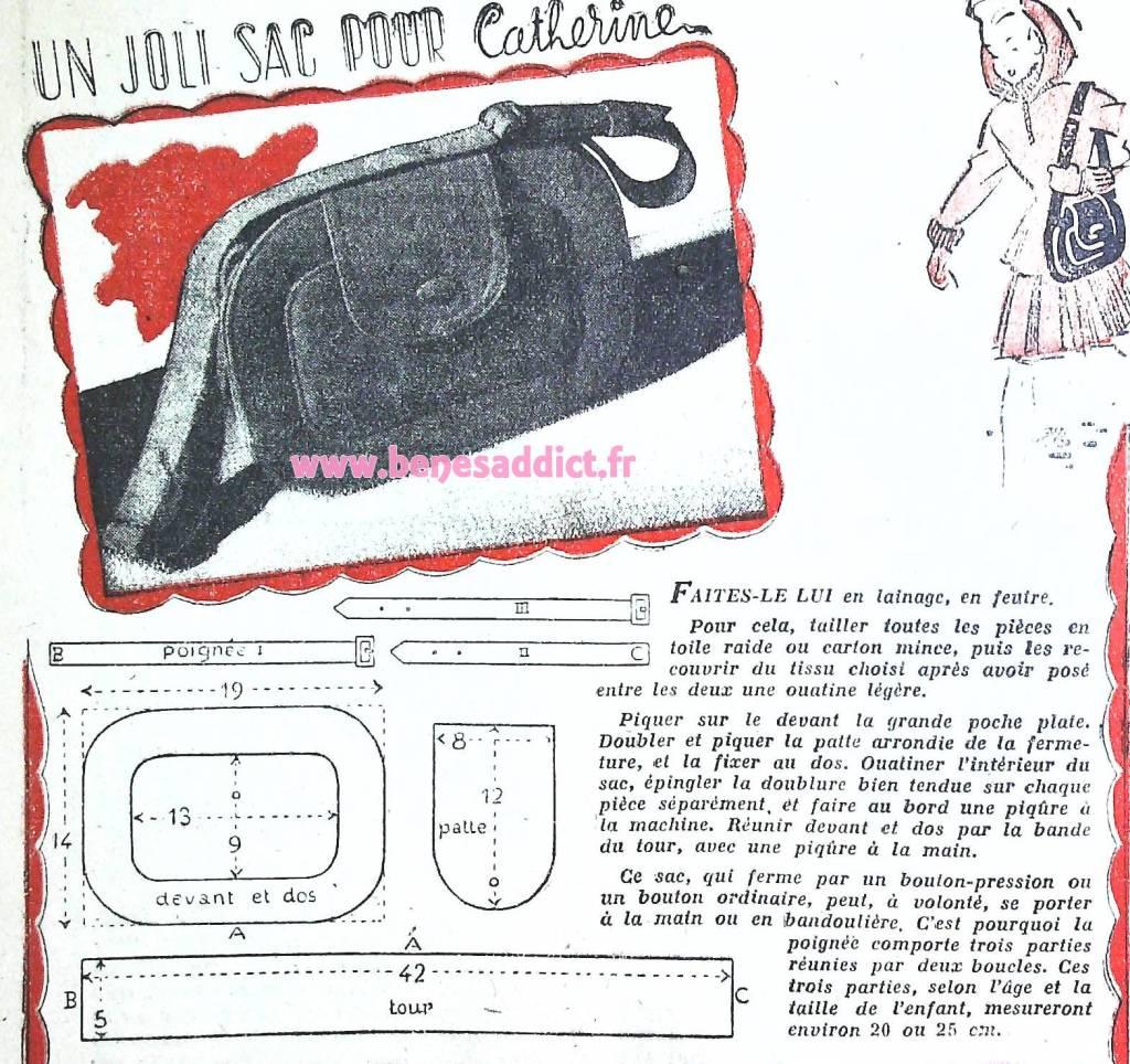 Patrons Gratuits de Sacs Les 64 PLUS BEAUX Sacs Vintage/Rétro à coudre des années 40 et 50!