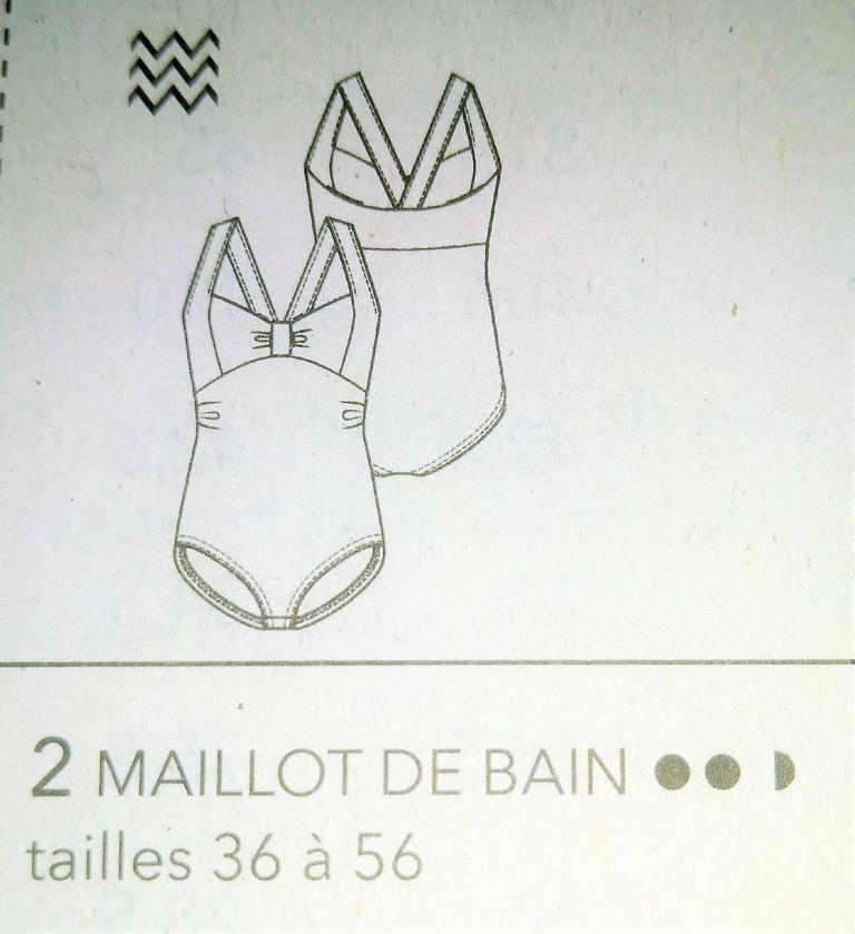 dessin technique maillot de bain