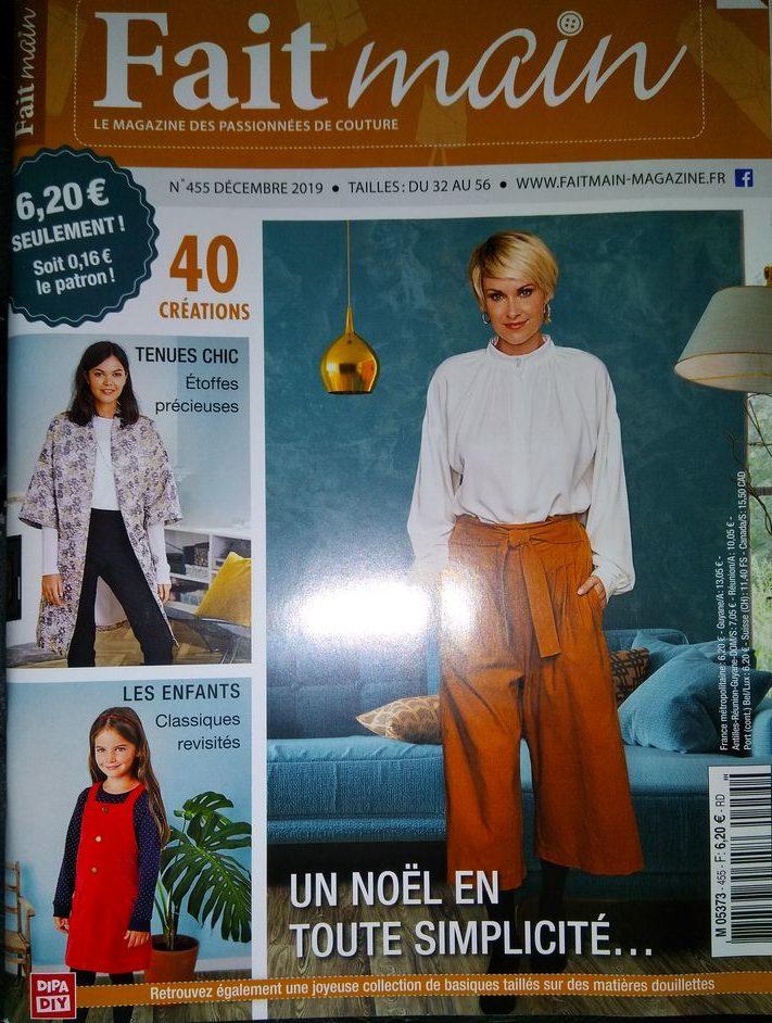 couverture revue fait main n°455