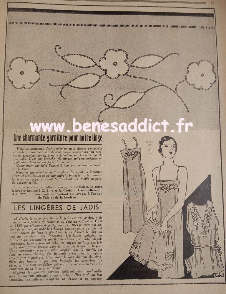 avant guerre1933 et des Tas de patrons/modèles GRATUITS, Tricot, Couture, Crochet, cuisine