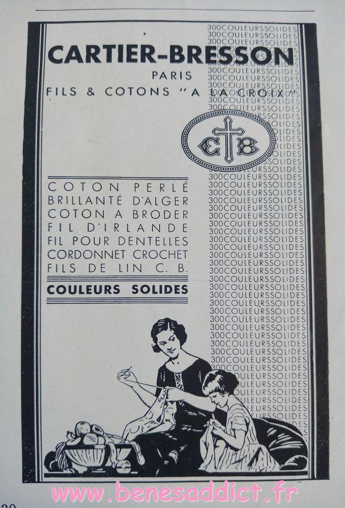 Esprit des Années 30, avec de Nombreux Modèles GRATUITS Tricot, crochet, Réclames