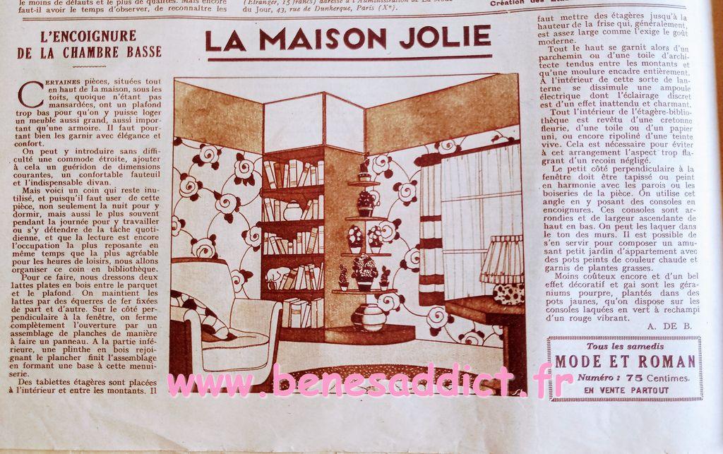 une touche de morale 1931 patrons gratuits tricot crochet couture bricolage, deco, tranches de vie, reclames
