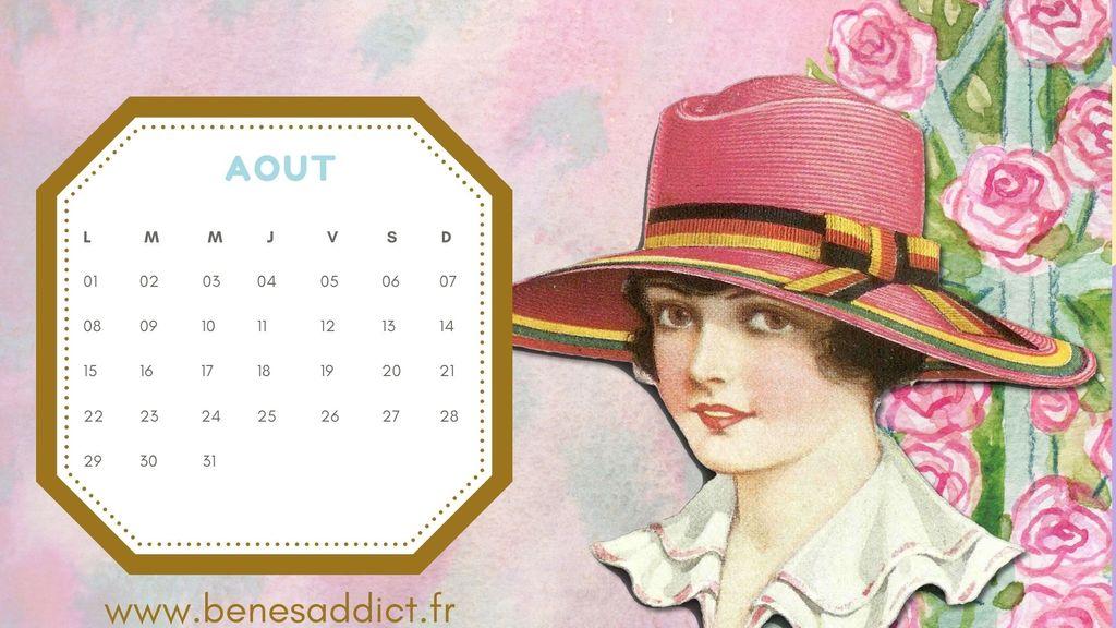 Calendrier Mensuel D'Inspiration Couture Vintage à Télécharger et Partager!