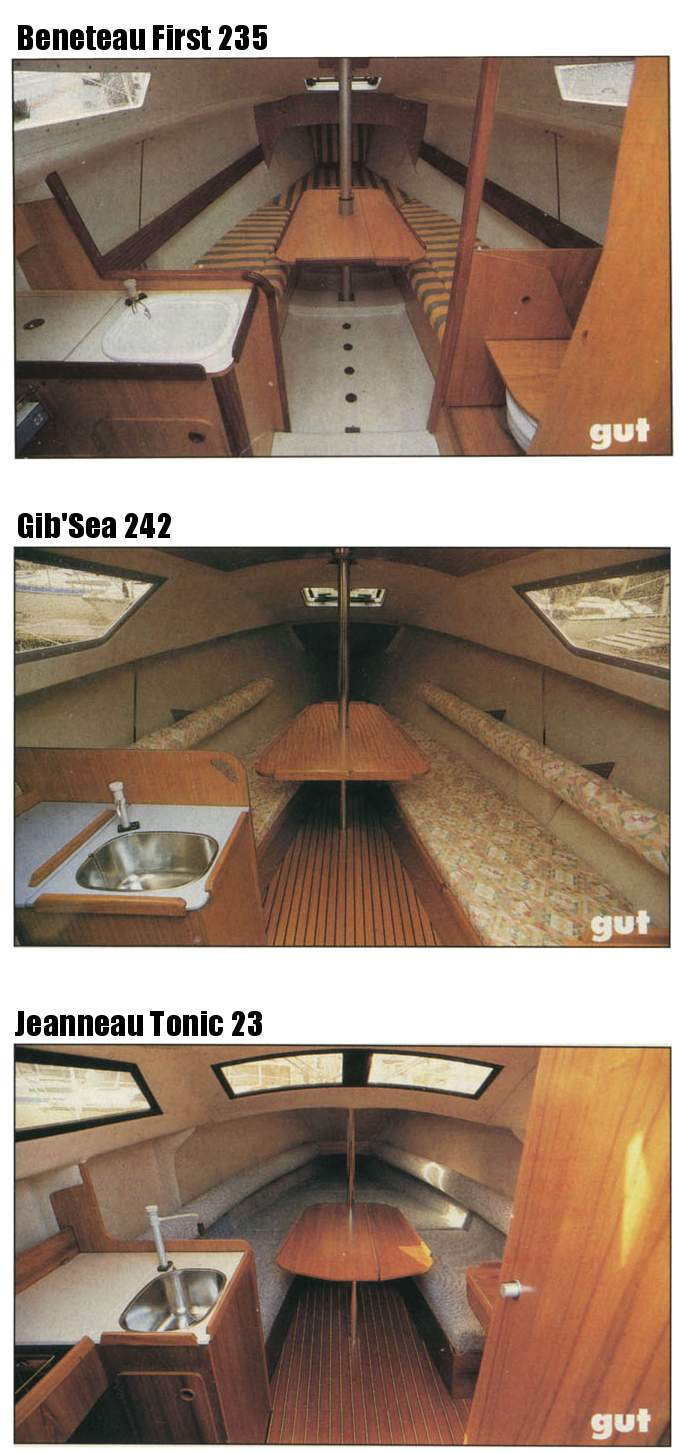 Yacht Review Cabin Comparison First 235 GibSea 242