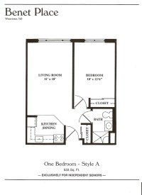 Floor Plans - Benet Place Senior Apartments Independent ...