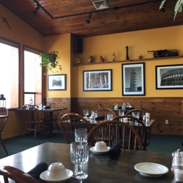 UPSTAIRS DINING - Prints by a former Coos Bay resident on a trip to Italy.