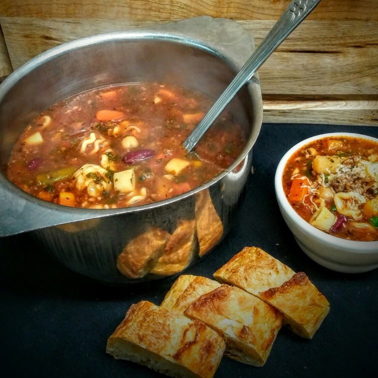 MINESTRONE SOUP - Our famous minestrone comes with all entrees.