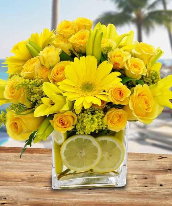 Citrus Sunshine - Floral Arrangements Lemons Calendar