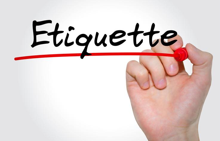 Showing Etiquette