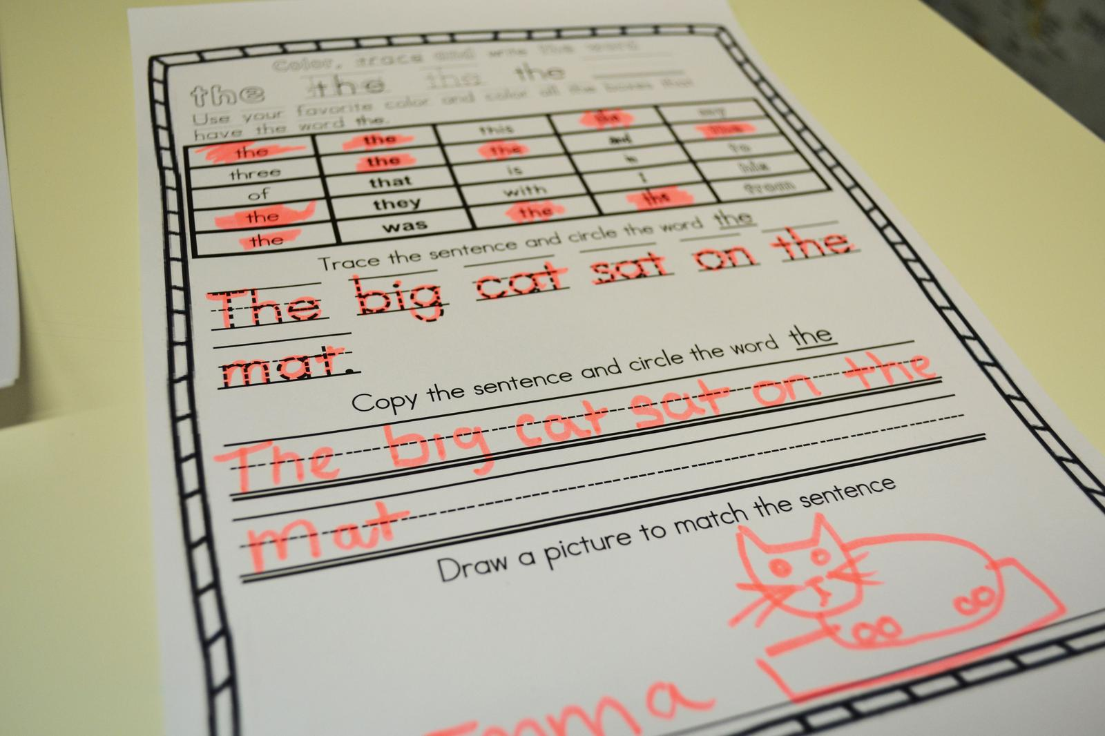 Sight Word Activities For K 2nd Grade