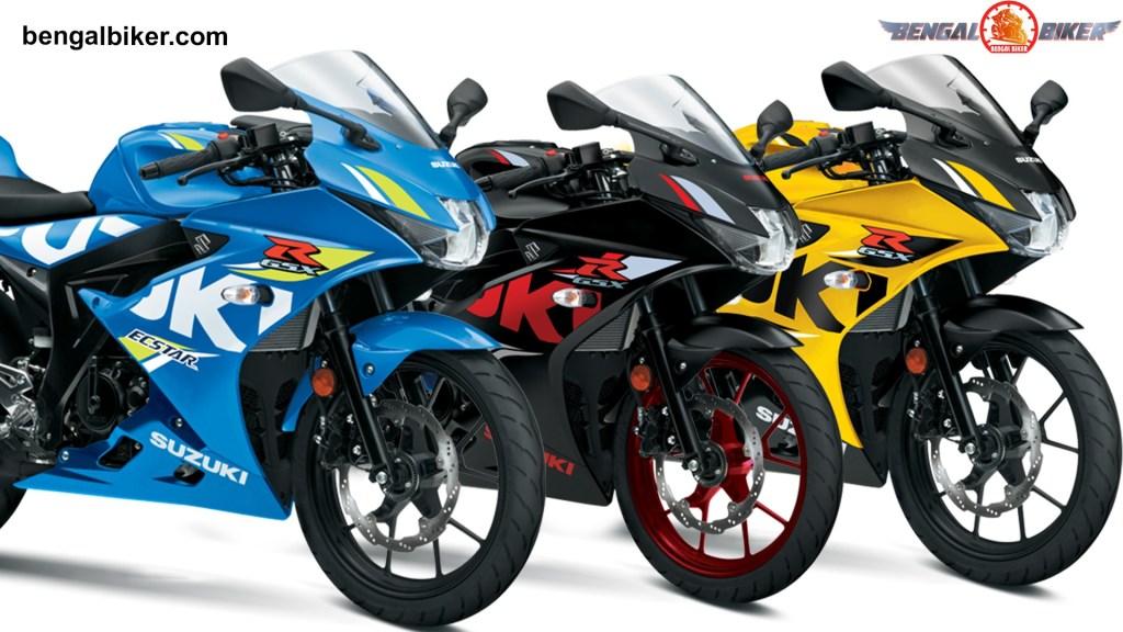 GSX-R 150 Blue,Black, yellow colors Bangladesh