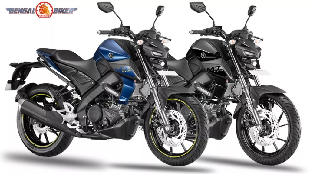 Yamaha MT 15 Metallic Black and Dark Matt Blue