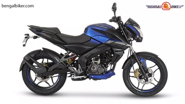 bajaj pulsar ns 160 abs blue