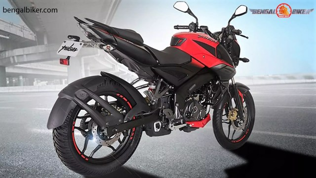 bajaj pulsar ns 160 fi abs  red back