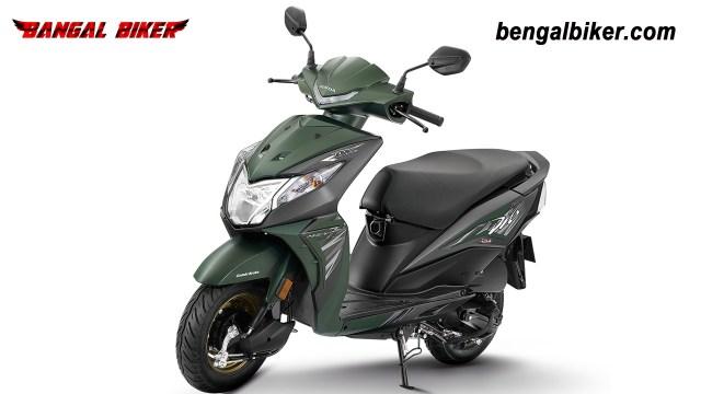 Honda Dio 110 matt green colors