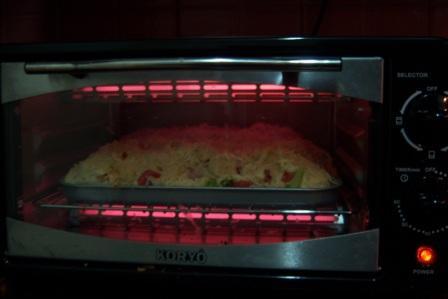 Preparing Cauliflower Broccoli gratin