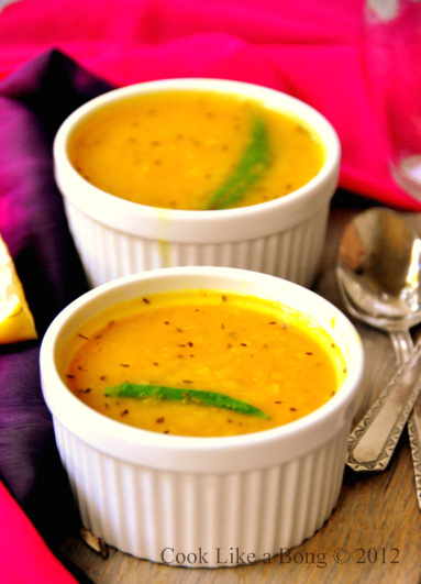 radhuni recipe Directions boil the water in a saucepan, and pour in the washed masoor dal let it cook for 10-15mins, till the dal is completely boiled pour in the salt, turmeric powder and throw in the green chillies.