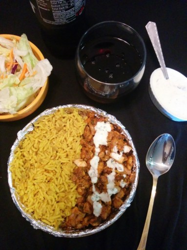 Manhattan cart style chicken over rice