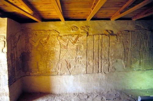 King-Amasis-offering-with-Djed-chons-ef-anch-and-his-wife-Nbt-bs-Nas-Second-Chapel-of-Temple-of-Ain-El-Muftilla-Photo-by-Roland-Unger