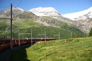 Bernina Express : St. Mortiz – Tirano – Lugano – St. Mortiz