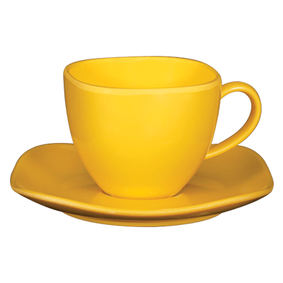 square tea cup plate