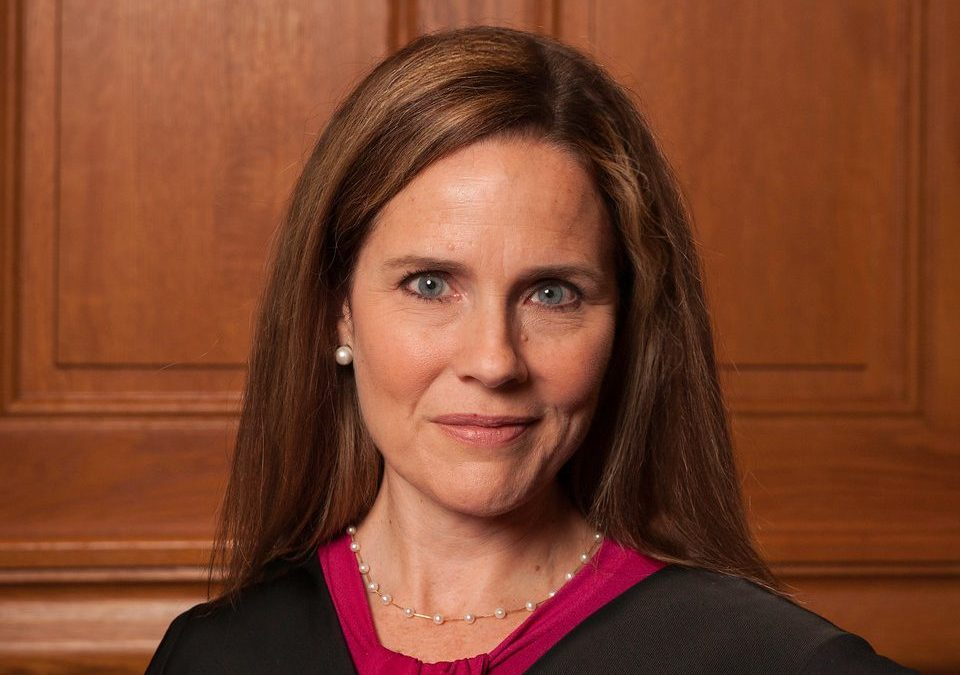 A photo of Justice Amy Coney Barrett of the Supreme Court