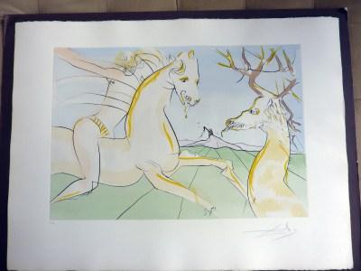 Dali-Le Cavalier et le Cerf