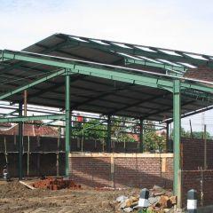 Konstruksi Baja Ringan Rumah Minimalis | Bengkel Las Lampung - ...