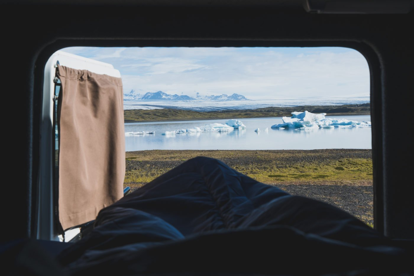 Waking up at Fjallsarlon