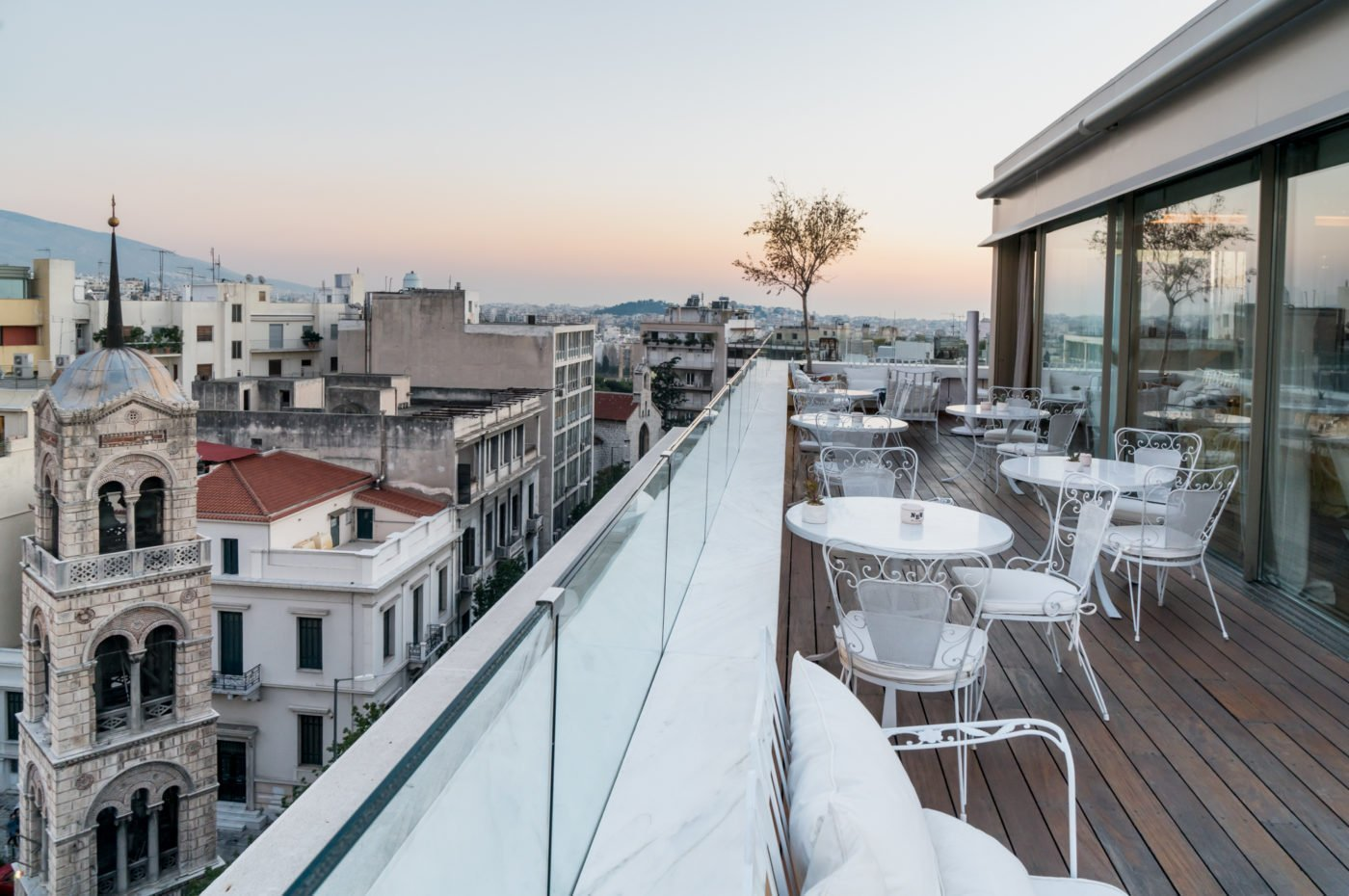 Art Lounge, the rooftop bar of New Hotel in Athens
