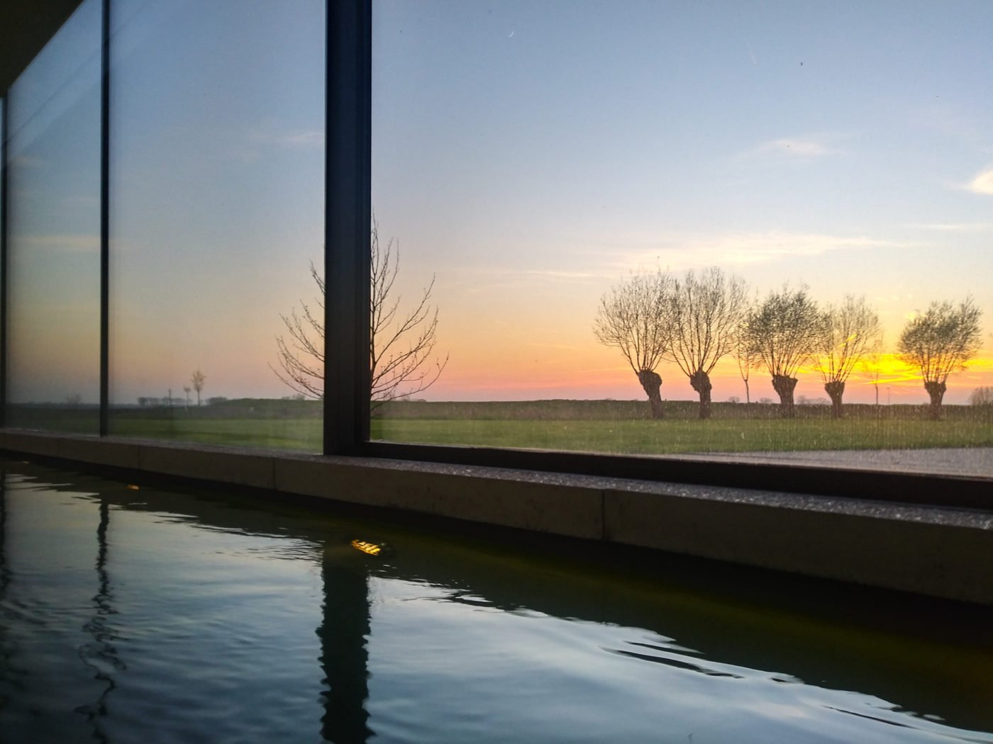 view from the pool at The Bunkers in Knokke