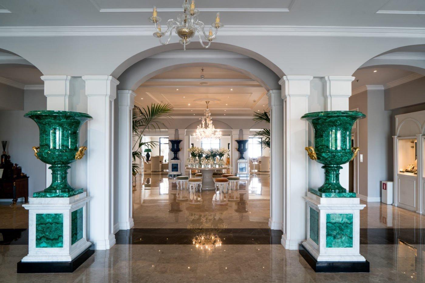 Lobby at Grecotel Corfu Imperial