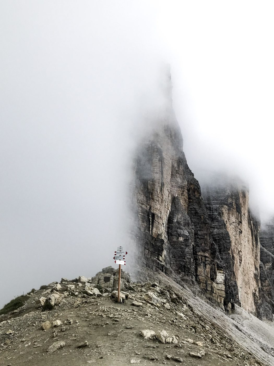 On the way to Tre Cime, Drei Zinnen in the Dolomites