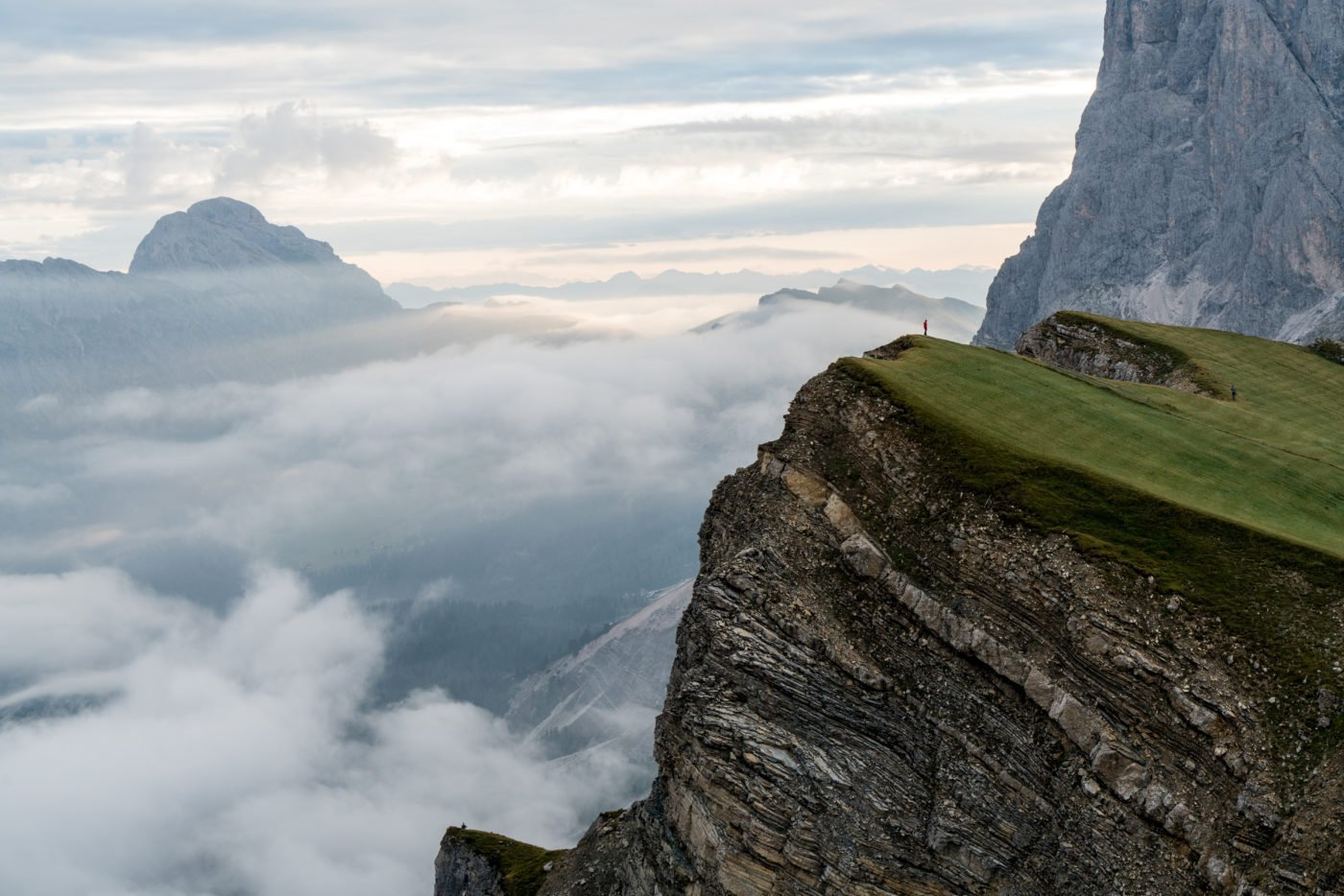 Seceda 2500m, famous Instagram location in South Tyrol