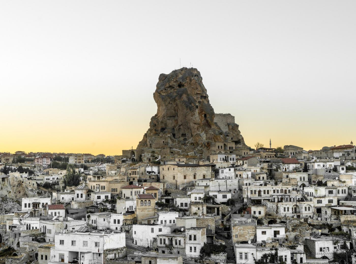 Watch sunset in Ortahisar and Uçhisar in Cappadocia