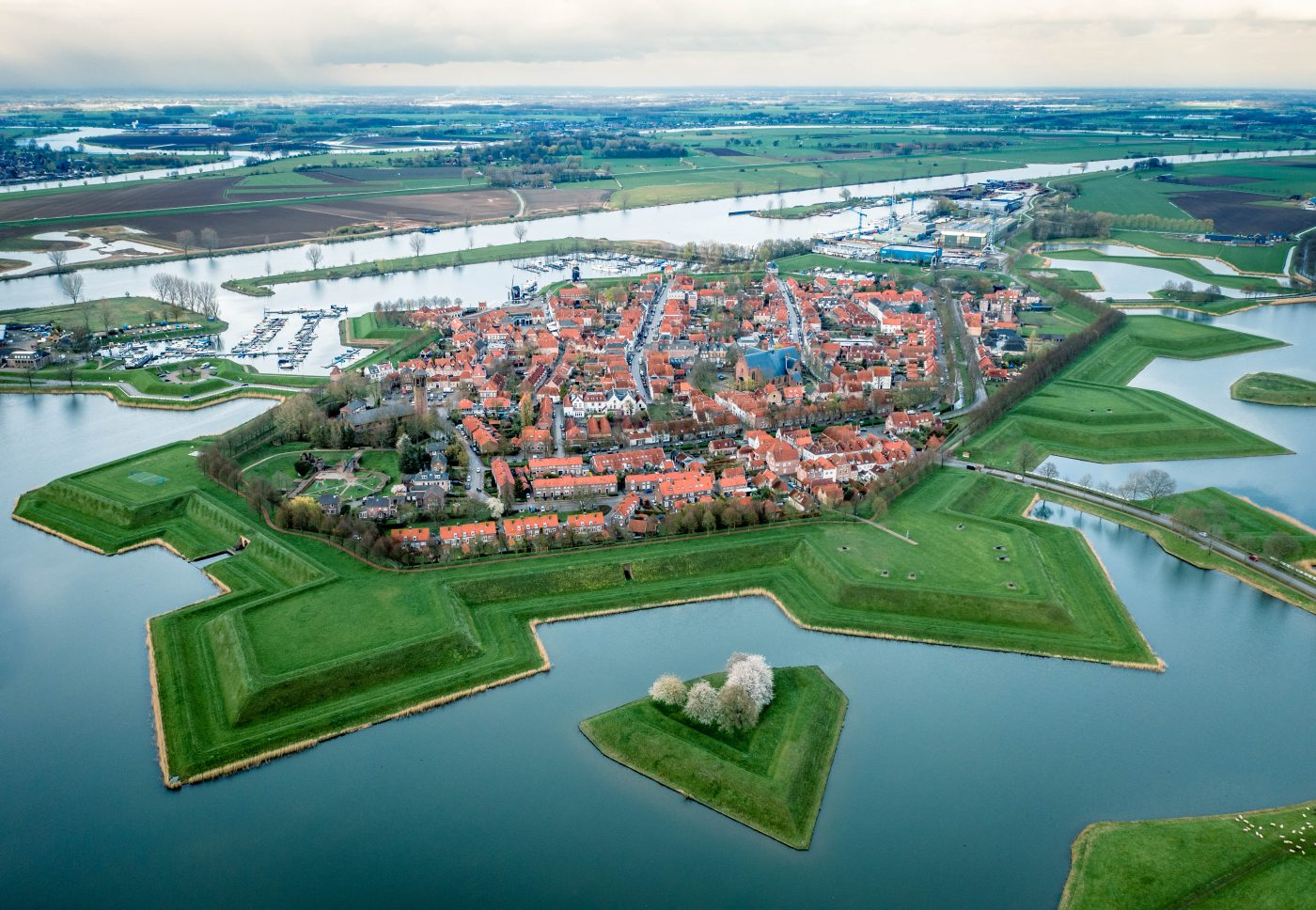 Heusden from above