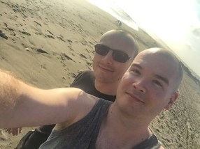 Selfie on the beach in Huanchaco