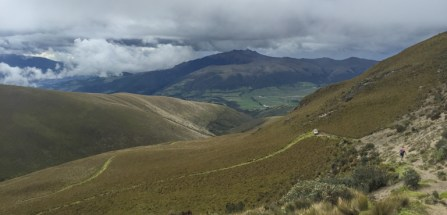 A rolling valley seen from Ruminahui